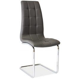 Casarredo Jídelní čalouněná židle H-103 šedá Židle do kuchyně