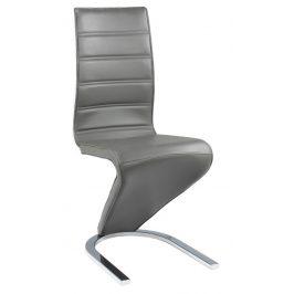 Casarredo Jídelní čalouněná židle H-669 šedá/bílá