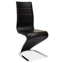Casarredo Jídelní čalouněná židle H-669 černá/bílá Židle do kuchyně