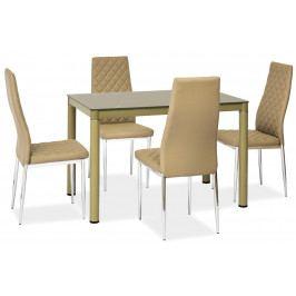 Casarredo Jídelní stůl GALANT tmavě béžový 70x110