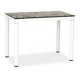 Casarredo Jídelní stůl DAMAR černo-bílý