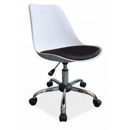 Casarredo Kancelářská židle Q-777 bílá-černá