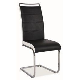Casarredo Jídelní čalouněná židle H-441 černá/bílá
