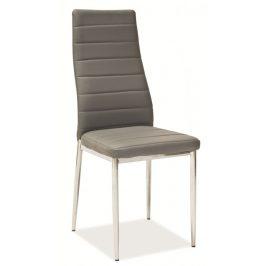 Casarredo Jídelní čalouněná židle H-261 šedá Židle do kuchyně