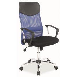 Casarredo Kancelářská židle Q-025 modrá/černá Kancelářská křesla