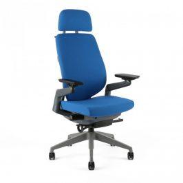 Office Pro Kancelářská židle KARME - F-03 modrá Kancelářská křesla