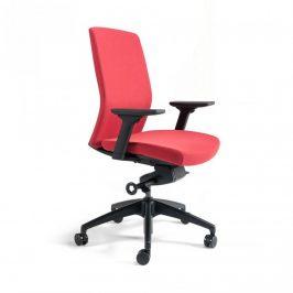 Office Pro Kancelářská židle J2 BP černý plast - červená 202