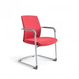 Office Pro Jednací židle JCON WHITE - červená 202