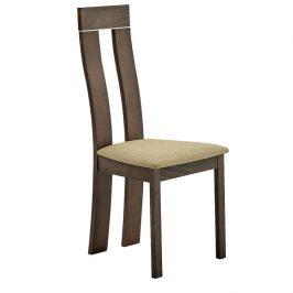 Tempo Kondela Dřevěná židle DESI - třešeň/látka hnědá