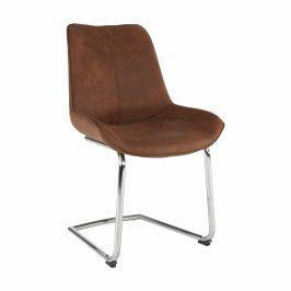 Tempo Kondela Židle, hnědá látka / chrom, NADINA