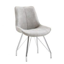 Tempo Kondela Židle MADORA - šedá / chrom