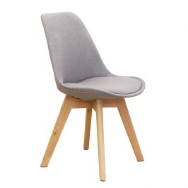 Tempo Kondela Jídelní židle LORITA, šedá / buk