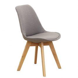 Tempo Kondela Jídelní židle LORITA, šedohnědá / buk Židle do kuchyně