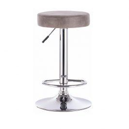 Tempo Kondela Barová židle, šedohnědá látka s efektem broušené kůže, GALVIN