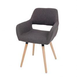 Tempo Kondela Designové křeslo GODRIC, tmavohnědá / buk Židle do kuchyně