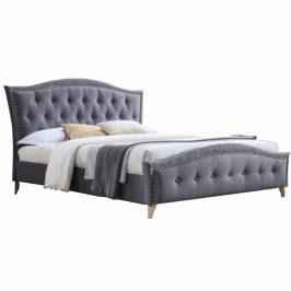 Tempo Kondela Manželská postel GIOVANA, 160x200 - šedá