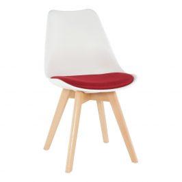 Tempo Kondela Židle DAMARA - bílá / červená Židle do kuchyně