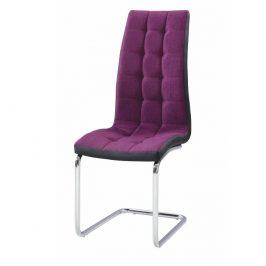 Tempo Kondela Jídelní židle SALOMA NEW - fialová / černá / chrom Židle do kuchyně