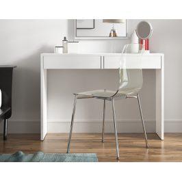 Tempo Kondela Toaletní stolek / psací stůl, bílá, VIOLET