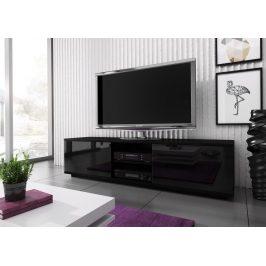 Casarredo Televizní stolek KIMI MINI černá/černá lesk