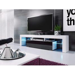 Casarredo Televizní stolek VERA 190 bílá/černá vysoký lesk Stolky pod TV