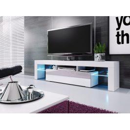 Casarredo Televizní stolek VERA MINI bílá/bílá vysoký lesk