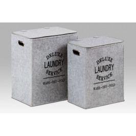 Autronic Koš na špinavé prádlo z plsti KD02 - sada 2 kusů