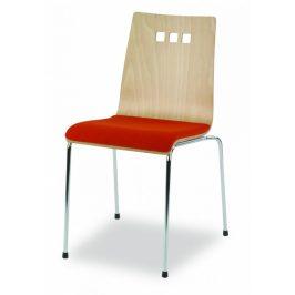 MIKO Židle Mirka podnož chrom čalouněný sedák
