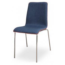 MIKO Židle Mirka podnož chrom celočalouněná