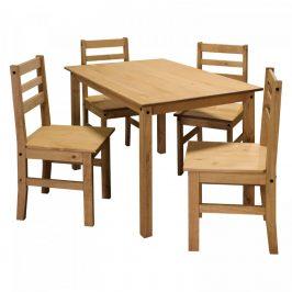 Idea Stůl + 4 židle CORONA vosk