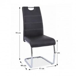 Tempo Kondela Židle Abira New - černá / světlé šití