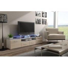 Cama Televizní stolek Evora RTV - bílá/krémový lesk