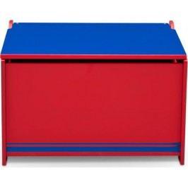 Forclaire Dřevěná truhla na hračky modro - červená