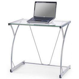 Halmar PC stůl B20 - čiré sklo