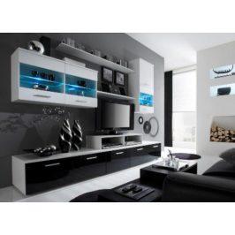 Cama Obývací stěna Logo II - bílá/bílá/černá