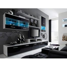 Cama Obývací stěna Logo II - bílá/černá