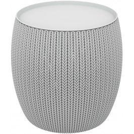 Rojaplast Stolek KNIT SINGLE TABLE (COZIES) šedý