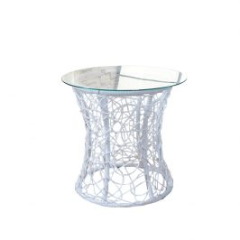 Tempo Kondela Příruční stolek SALMAR - bílá