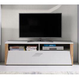 Falco TV stolek Piass bílá/dub zlatý
