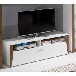 Falco TV stolek Piass bílá/ořech