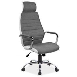Casarredo Kancelářská židle Q-035 šedá/bílá