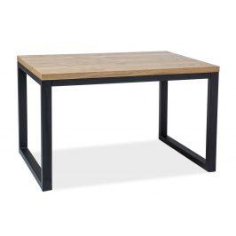 Casarredo Jídelní stůl LORAS II 120x80 dýha dub/černá