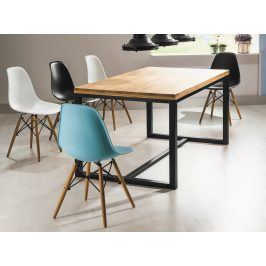 Casarredo Jídelní stůl LORAS A 150x90 dub masiv/černá
