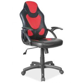Casarredo Kancelářské křeslo Q-100 černá/červená