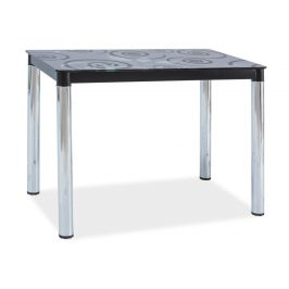 Casarredo Jídelní stůl DAMAR II černá-chrom
