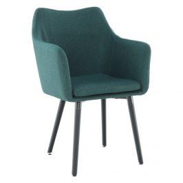 Tempo Kondela Jídelní křeslo Dabir - smaragdová / černá Židle do kuchyně