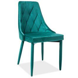 Casarredo Jídelní čalouněná židle TRIX VELVET zelená