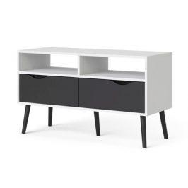 Falco TV stolek Retro 383 bílá/černá