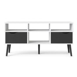 Falco TV stolek Retro 391 bílá/černá