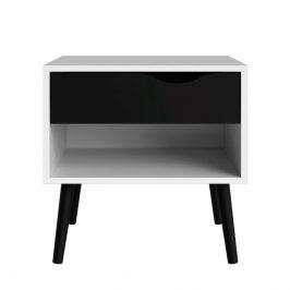 Falco Noční stolek Retro 394 bílá/černá